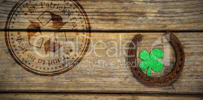 Composite image of composite image of st patrick day with recycling symbol