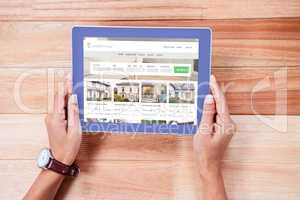 Composite image of composite image of property web page