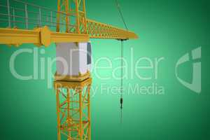 Composite image of studio shoot of a crane
