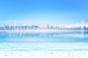 Composite image of cityscape 3d