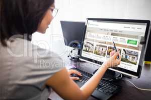 Composite image of composite image of property web site