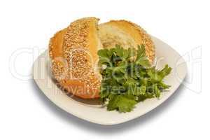 bun with sesame seeds
