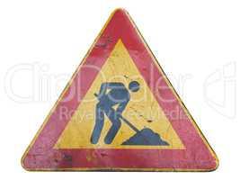 road works sign