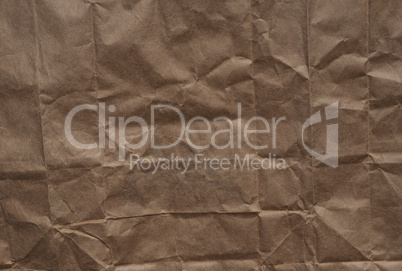 Wrinkled wrapping paper
