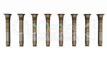 Columns of Egypt - 3D render