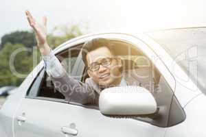 Rude driver cursing
