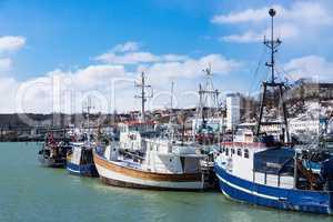 Der Fischereihafen in Saßnitz auf der Insel Rügen