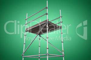 Composite image of three dimension image of scaffolding