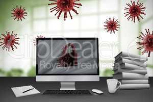 Composite image of digital image of lock 3d