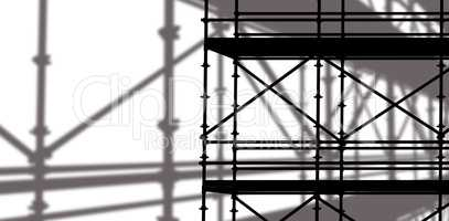 Composite image of 3d image of construction scaffolding