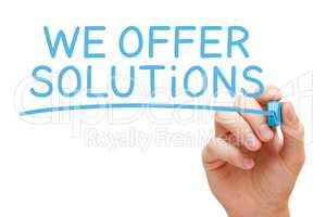 We Offer Solutions Blue Marker