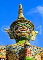 Guardian Statue at Wat Phra Kaew Grand Palace Bangkok