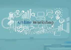 Online Workshop text with drawings graphics