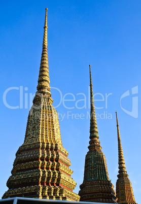 Authentic Thai Architecture (Pagoda ceramic decoration) in Wat P
