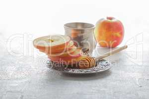 Honey and apples for Rosh Hashanah