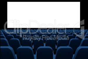 3d cinema with blank screen