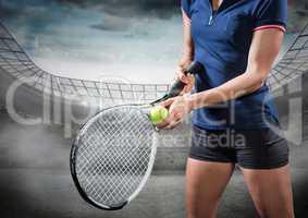 Tennis player in stadium