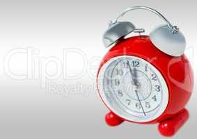 Alarm Clock against grey background