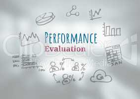 Performance Evaluation text with drawings graphics