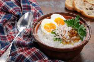 Rice  porridge with egg