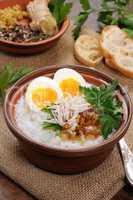 Rice  porridge with egg