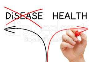 Health Or Disease Arrows Concept