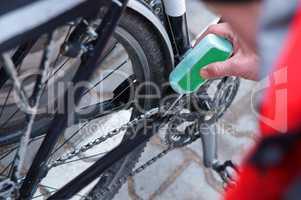 bike, lubricate, bicycle, repair, gear, mechanic, derailleur, service