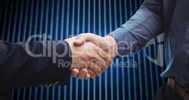 Composite image of corporate men shaking hands