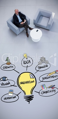 Composite image of innovation doodle