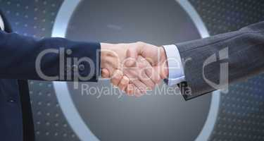 Composite image of entrepreneurs shaking hands