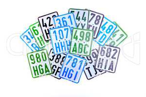license number plates for scooter