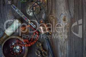 Antique items for alternative medicine