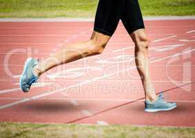 Runner legs on start line