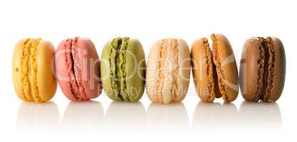 Row of macarons