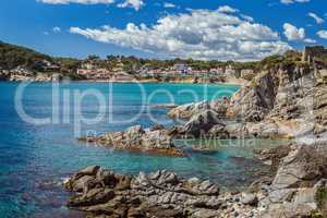Detail of the Spanish coast at summer (Catalonia,Costa Brava)
