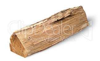 Single log of wood horizontally