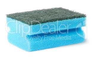Sponge for washing dishes with felt horizontally flipped