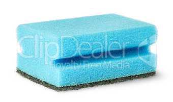 Sponge for washing dishes with felt horizontally