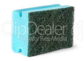 Sponge for washing dishes with felt on the side