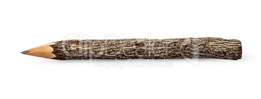 Unusual pencil in the form of logs horizontally