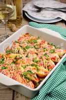 pasta conchiglioni shells stuffed meat mince