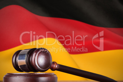 Composite image of hammer and gavel