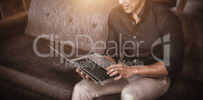 Businessperson using laptop