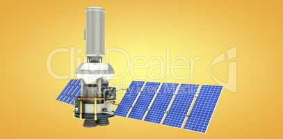 Composite image of vector image of�3d modern solar satellite