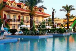 Resort at coast of Mediterranean sea.