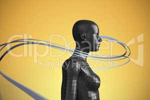 Composite image of grey line design