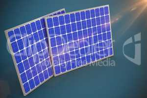 Composite image of vector image of 3d solar equipment