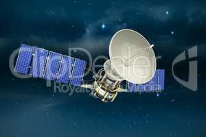 Composite image of vector image of�3d solar power satellite