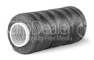 Black thread on the coil horizontally