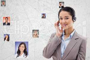 Confident HR wearing headphones while selecting candidates